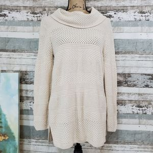 EIGHT EIGHT EIGHT Cotton Cowl Neck Sweater EUC